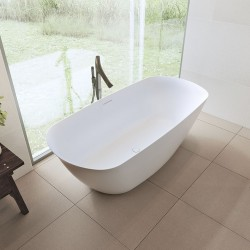 Riho Bilo 165x77 cm laisvai statoma lieto marmuro vonia