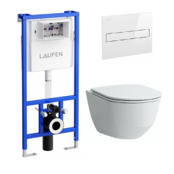 Komplektas Laufen LIS rėmas ir Laufen PRO pakabinamas klozetas