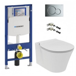 Komplektas Geberit rėmas ir IdealStandard connect Air pakabinamas klozetas
