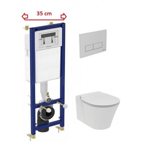 Komplektas Ideal Standard Connect Air pakabinamas klozetas ir siauras rėmas