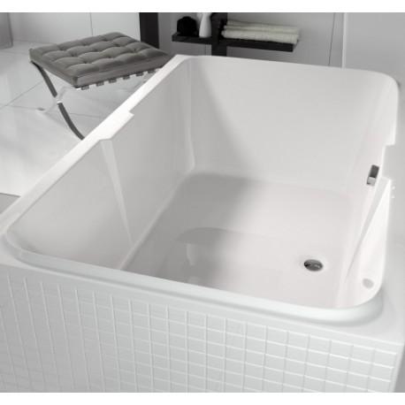 Dvivietė vonia RIHO Sobek 180x115 cm su kojelemis
