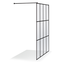Juodos spalvos languota dušo sienelė Baltijos Brasta EMA 100 cm