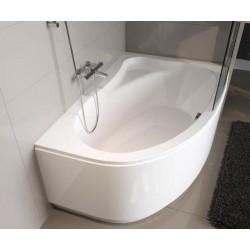 Kampinė vonia RIHO Lyra 170x110 cm su kojelemis