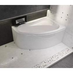 Kampinė vonia RIHO Lyra 140x90 cm su kojelemis