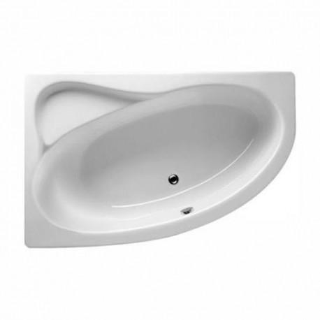 Kampinė vonia RIHO Lyra 153x100,5 cm su kojelemis