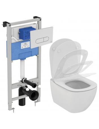 Комплект система инсталляции + унитаз Ideal Standard Tesi AquaBlade