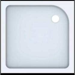 Kvadratinis akrilinis dušo padėklas TALA 100x100 cm