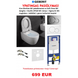 Geberit Duofix ir iCon rimfree AKCIJA!