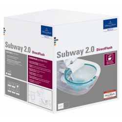 Akcija! Subway  2.0  pakabinamas unitazas su CERAMIC PLUS danga, Rimless