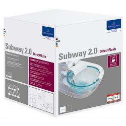 Подвесной туолет SUBWAY 2.0 Rimless с крышкой Soft-Close Slim
