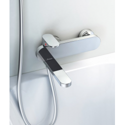 Sieninis vonios maišytuvas Chrome