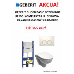 Duofix Basic ir Selnova pakabinamo WC akcija