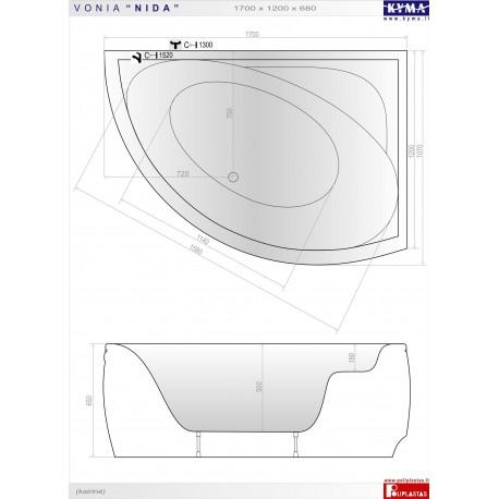 Nida  vonia 170x120 cm