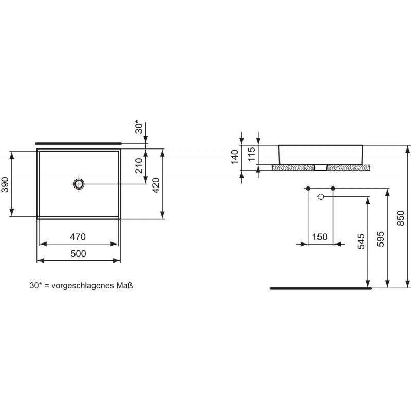 pastatomas praustuvas strada 50 cm. Black Bedroom Furniture Sets. Home Design Ideas