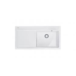 MTK 611-100  plautuvė virtuvei, pusė dešinė, spalva- balta