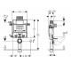 Kombifix wc montavimo elemeto H98, 12cm storio techniniai duomenys