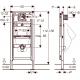 Duofix pisuaro montavimo elemento H112-130 techniniai duomenys