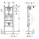DuofixBasic pisuaro montavimo rėmo H112-130 techniniai duomenys