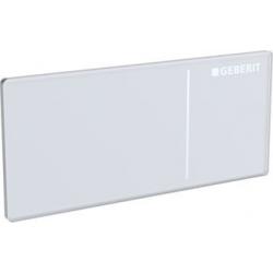 Omega70 vandens nuleidimo mygtukas spalva- baltas stiklas