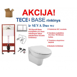 Seva Duo WC techniniai duomenys