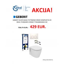 Duofix basic ir Connect pakabinamas wc su Delta21