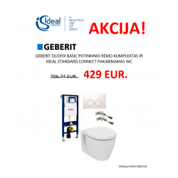 Geberit Duofix basic ir Connect pakabinamas wc su Delta21