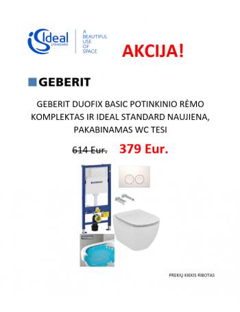 Duofix basic ir Tesi pakabinamas WC su rimless