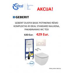 Duofix basic ir Tesi pakabinamas WC