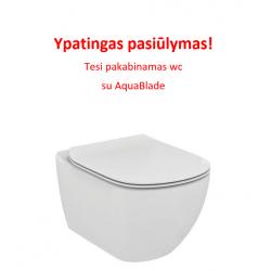 Ypatingas pasiūlymas! TESI pakabinamas WC su Aquablade sistema