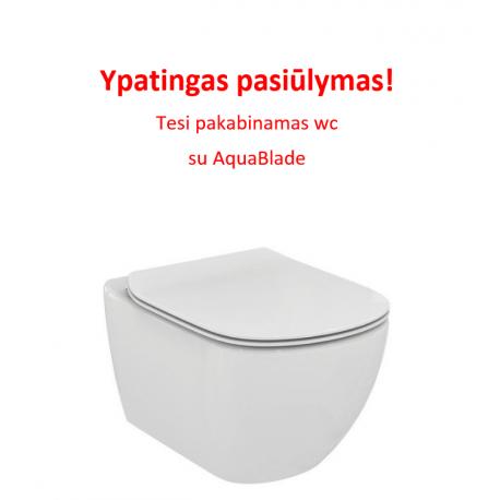 TESI pakabinamas unitazas su Aquablade sistema