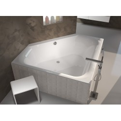 Kampinė vonia RIHO Austin 145x145 cm su kojelemis