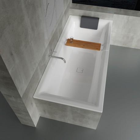 Vonia RIHO Still Square 180x80 cm su kojelemis ir sifonu