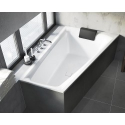 Asimetrinė vonia RIHO Still Smart 170x110 cm su kojelėmis ir sifonu